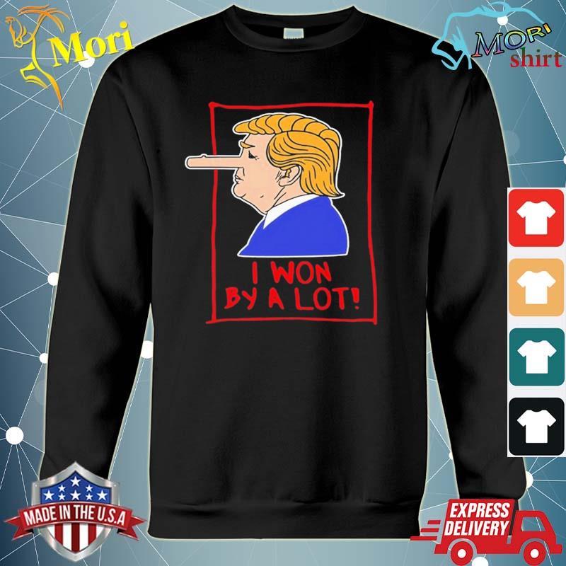 Trump Pinocchio Lost Biden Won I Won By A Lot s hoodie