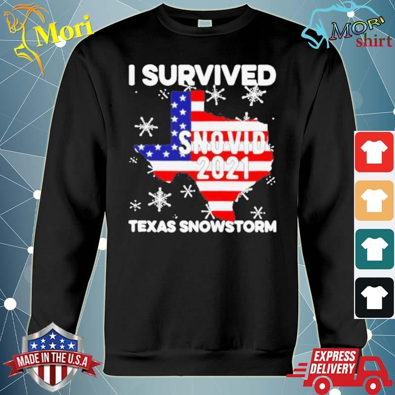 I survived snovid 2021 Texas snowstorm American flag s hoodie