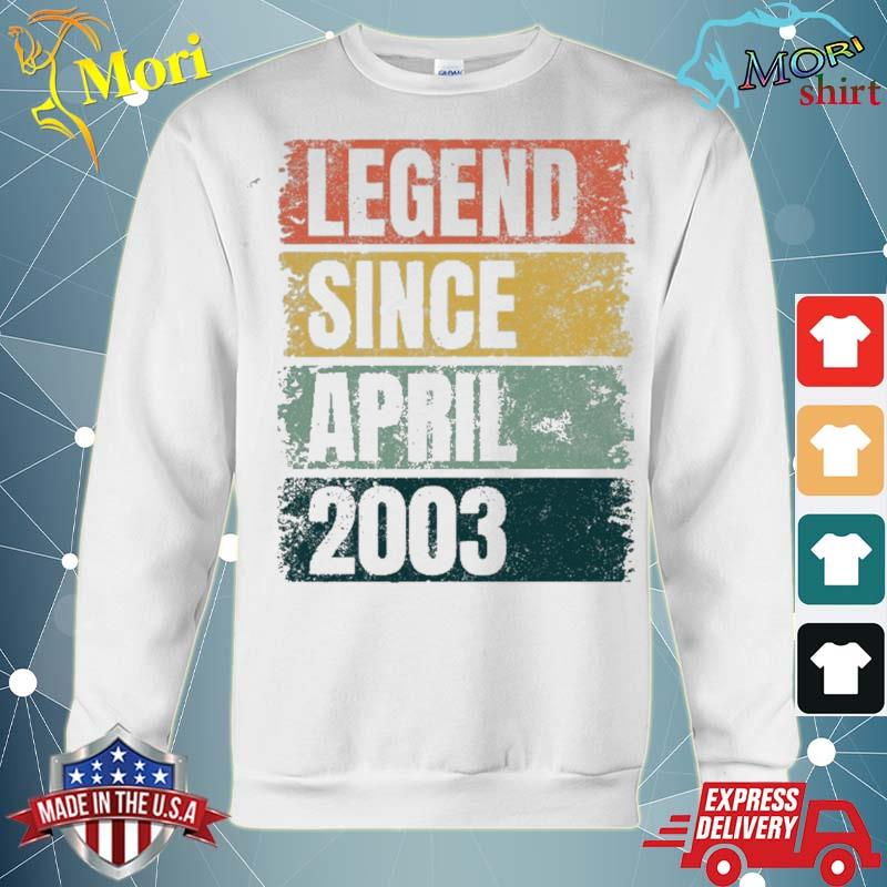 18th birthday gifts age 18 years legend since april 2003 ver2 s hoodie