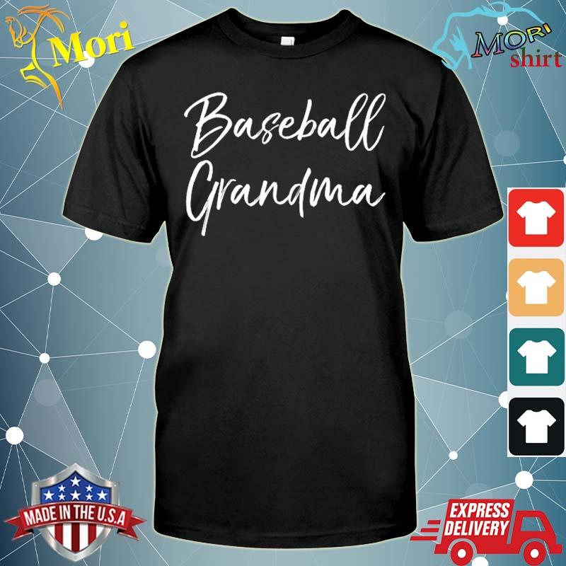 Baseball gift for grandmother mother's day baseball grandma shirt