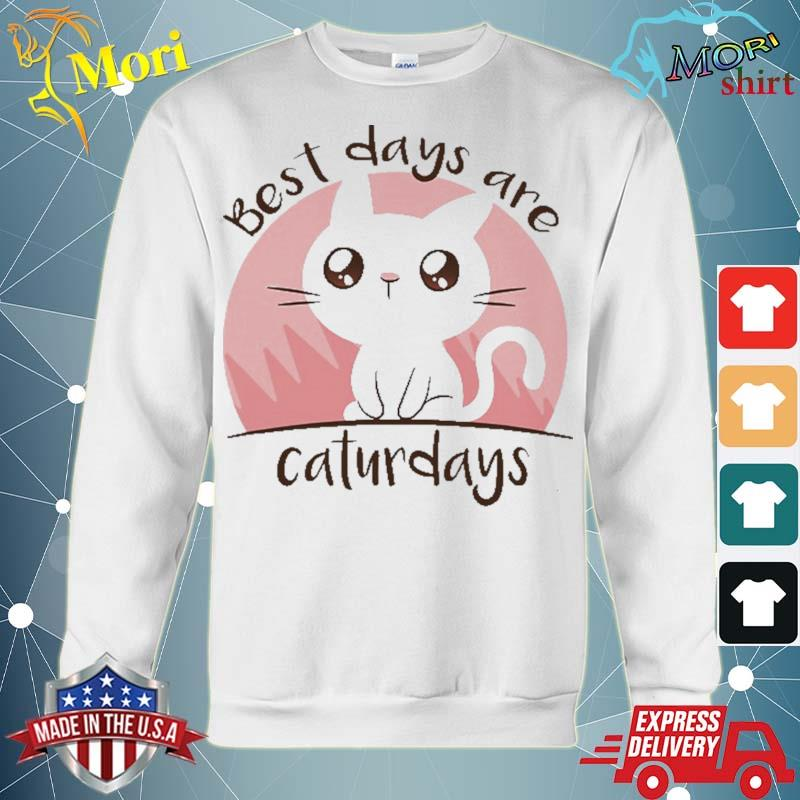 Best days are caturdays cute cat gift for cat lover s hoodie