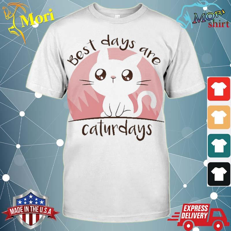 Best days are caturdays cute cat gift for cat lover shirt