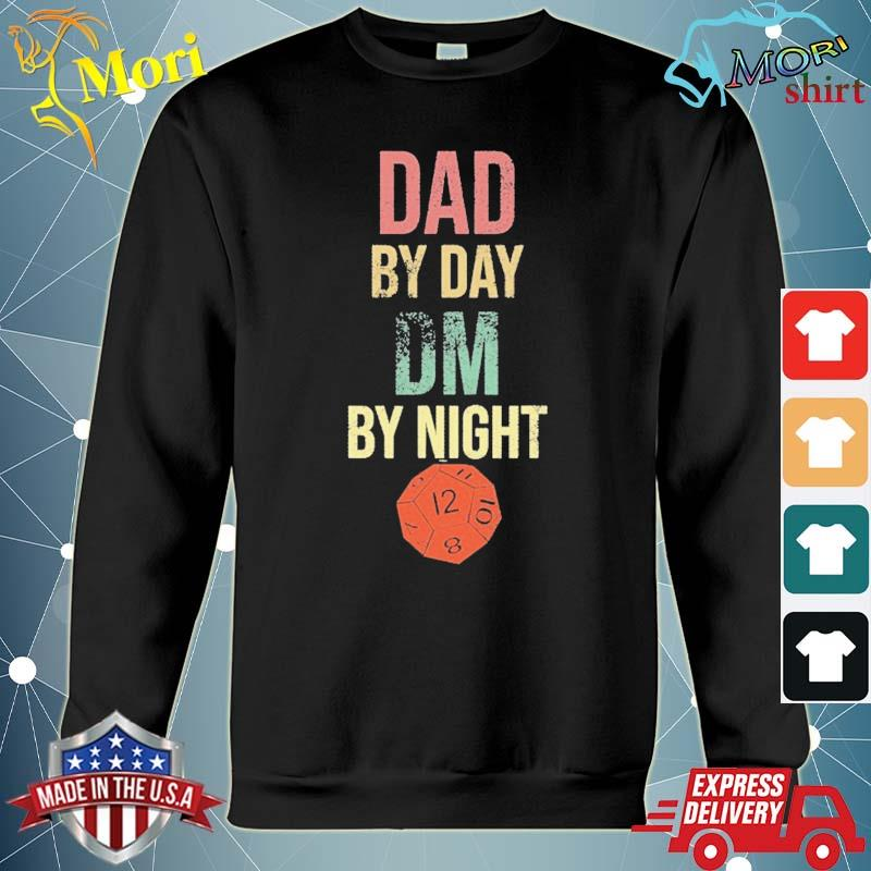 Dad by day dm by night gift for tabletop gaming geek dads s hoodie