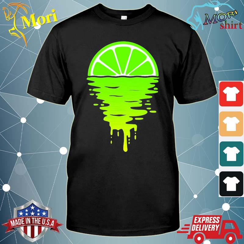 Lime 80s sunset shirt