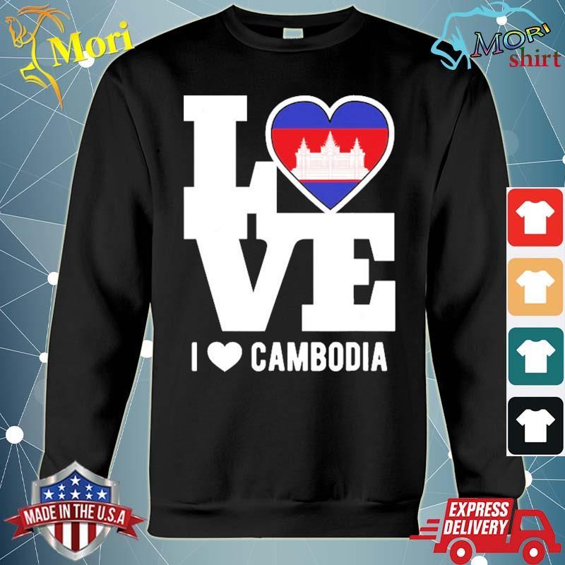 Love Cambodia patriotic cambodian expat s hoodie
