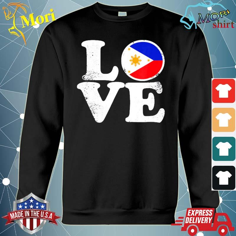 Love Philippines flag home pride distressed s hoodie