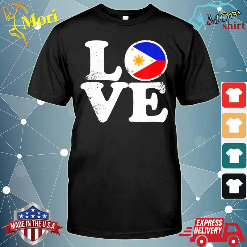 Love Philippines flag home pride distressed shirt