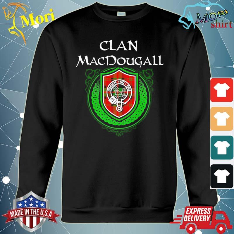 Macdougall surname scottish clan tartan shield badge s hoodie