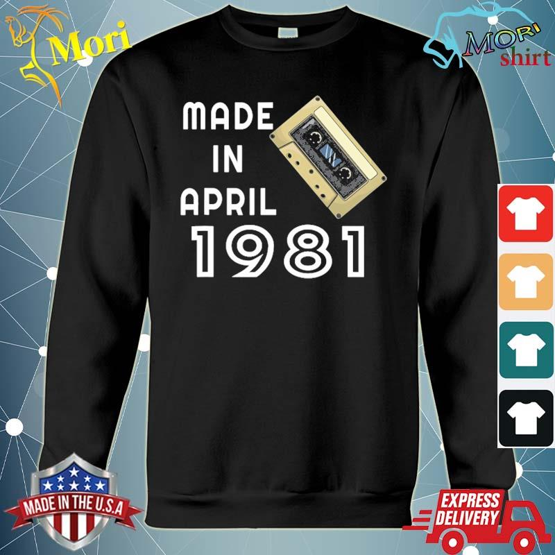 Made in april 1981 retro vintage s hoodie