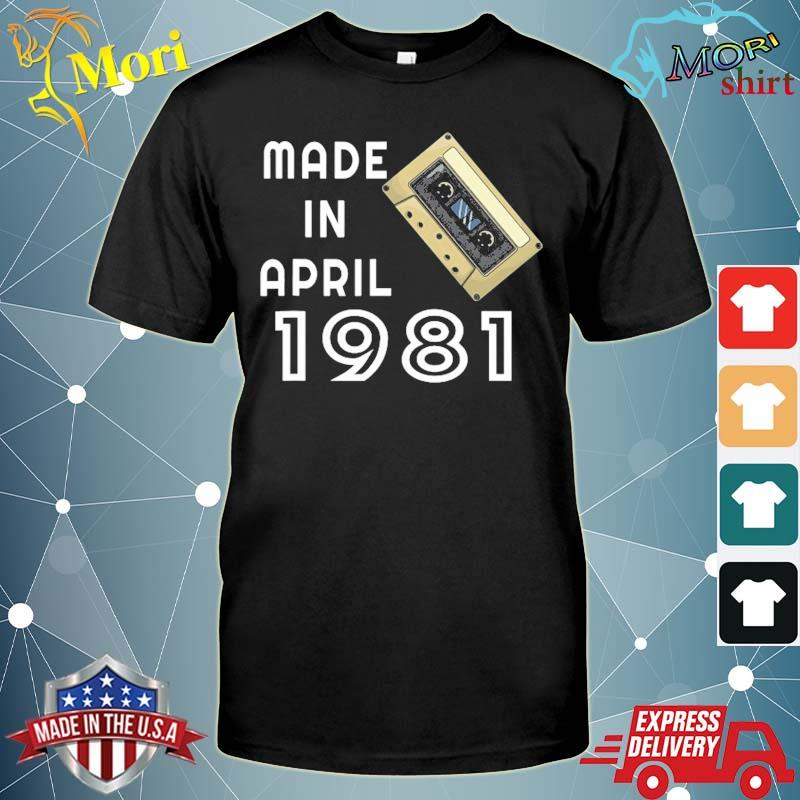 Made in april 1981 retro vintage shirt