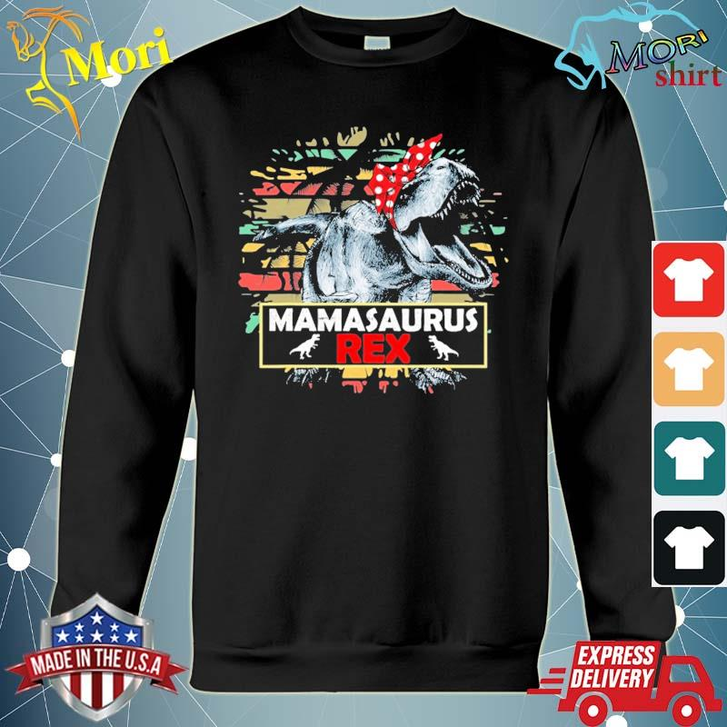 Mamasaurus t rex dinosaur mama saurus family matching women s hoodie