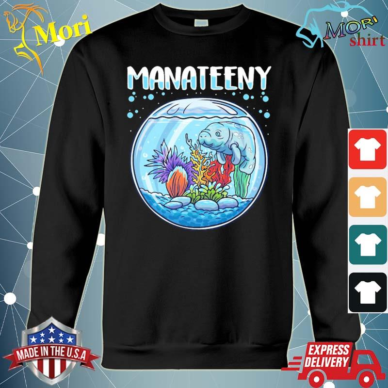 Manateeny funny manatee lover sea cow floaty potatoes pun s hoodie