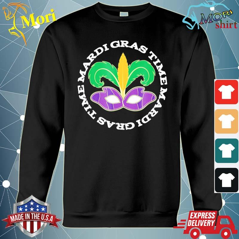 MardI gras holiday time parade party mask s hoodie