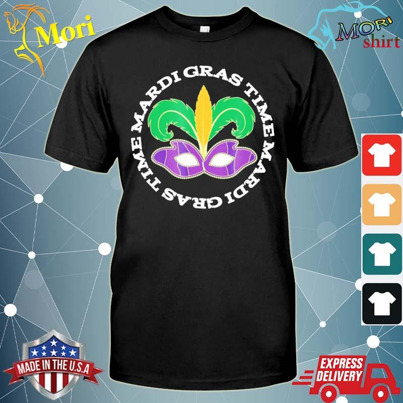 MardI gras holiday time parade party mask shirt