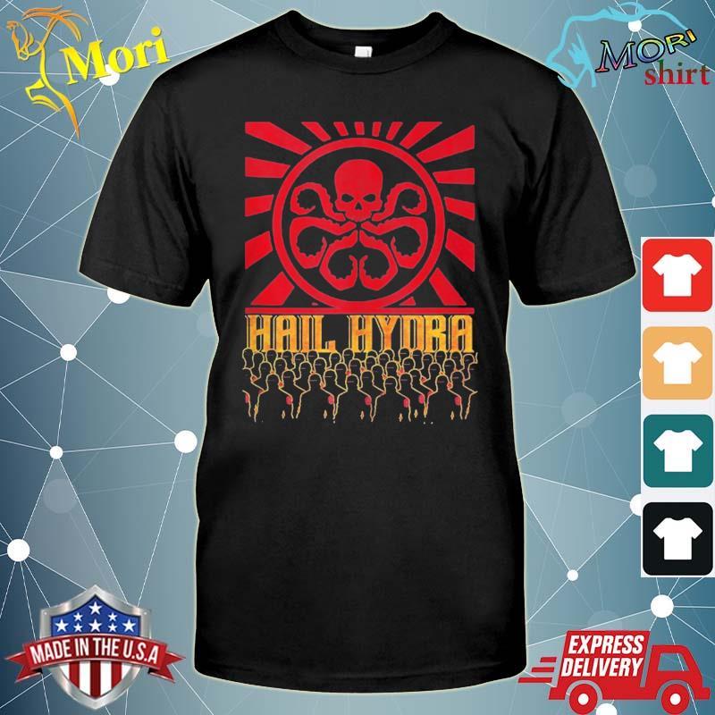 Marvel hail hydra propaganda rally logo poster shirt