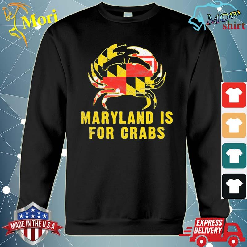 Maryland is for crabs vintage ml flage crab s hoodie