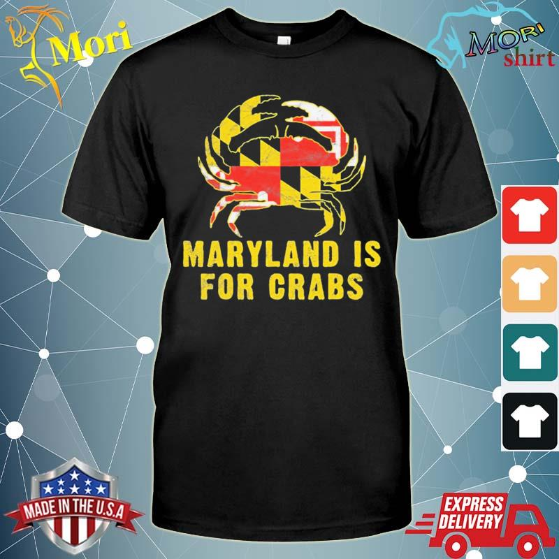 Maryland is for crabs vintage ml flage crab shirt