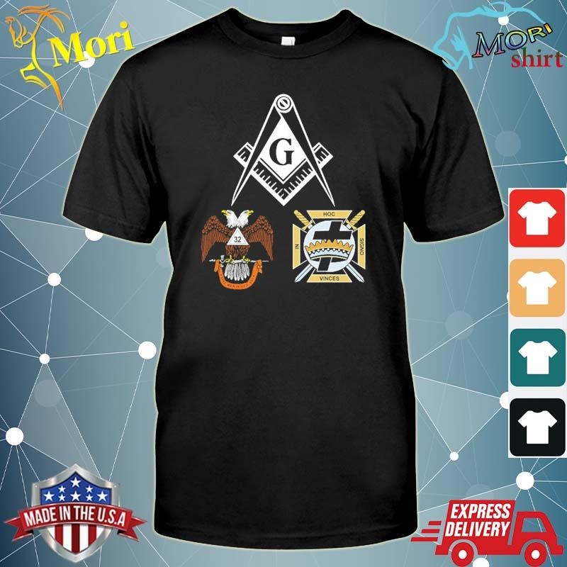 Mason scottish york rite masonic black down shirt
