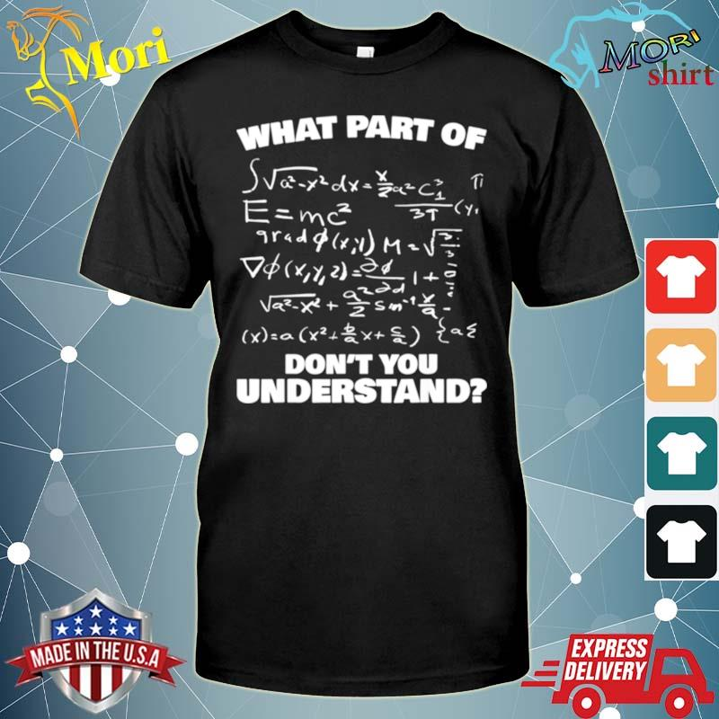 What Part Of Don't You Understand Lustiges Mathe shirt