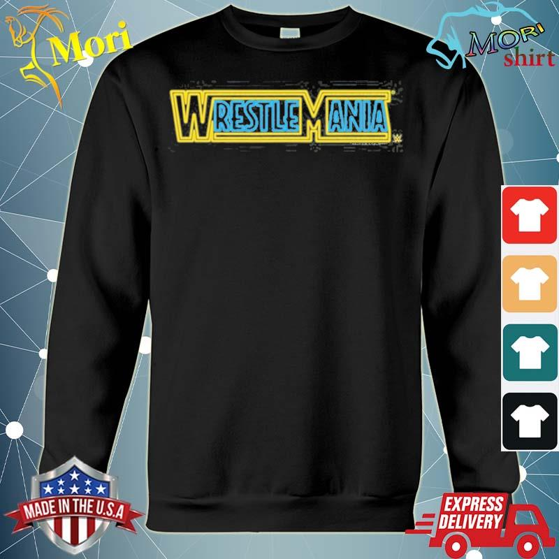 Wwe wrestlemania logo neon sign s hoodie