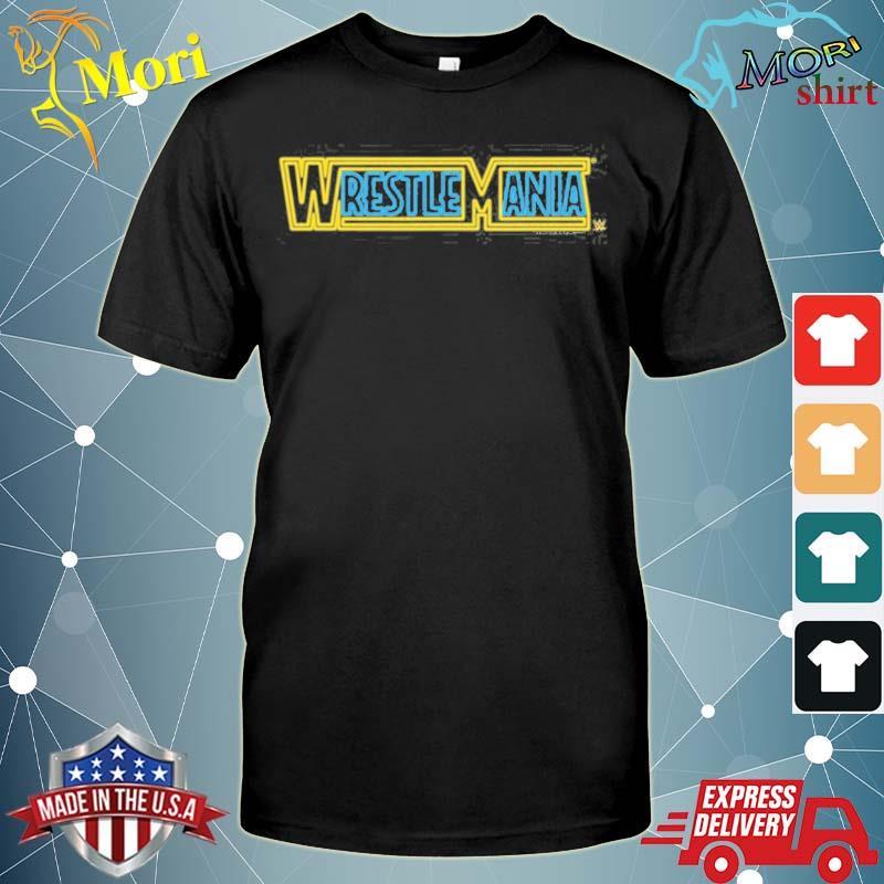 Wwe wrestlemania logo neon sign shirt