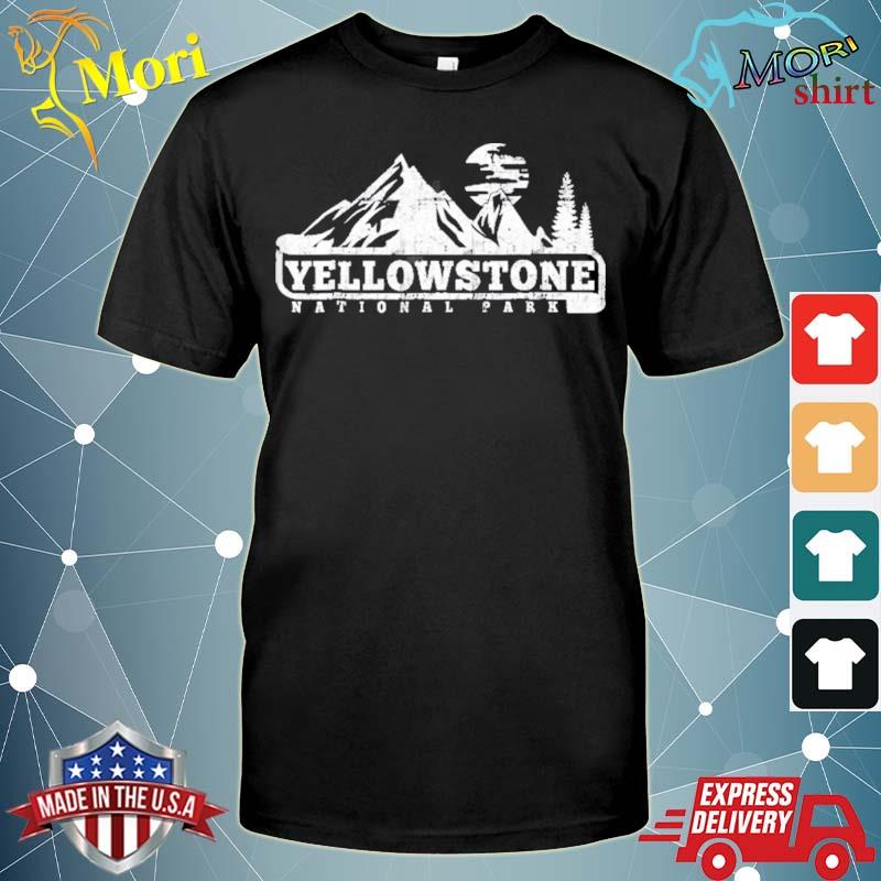 Yellowstone national park I love hiking wanderlust shirt
