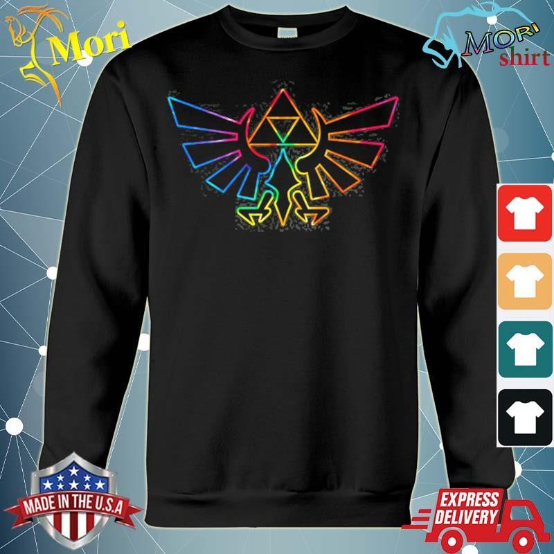 Zelda hyrule crest tie dye outline s hoodie