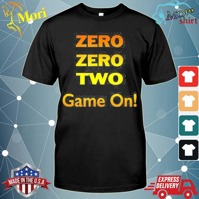 Zero zero two game on pickleball shirt