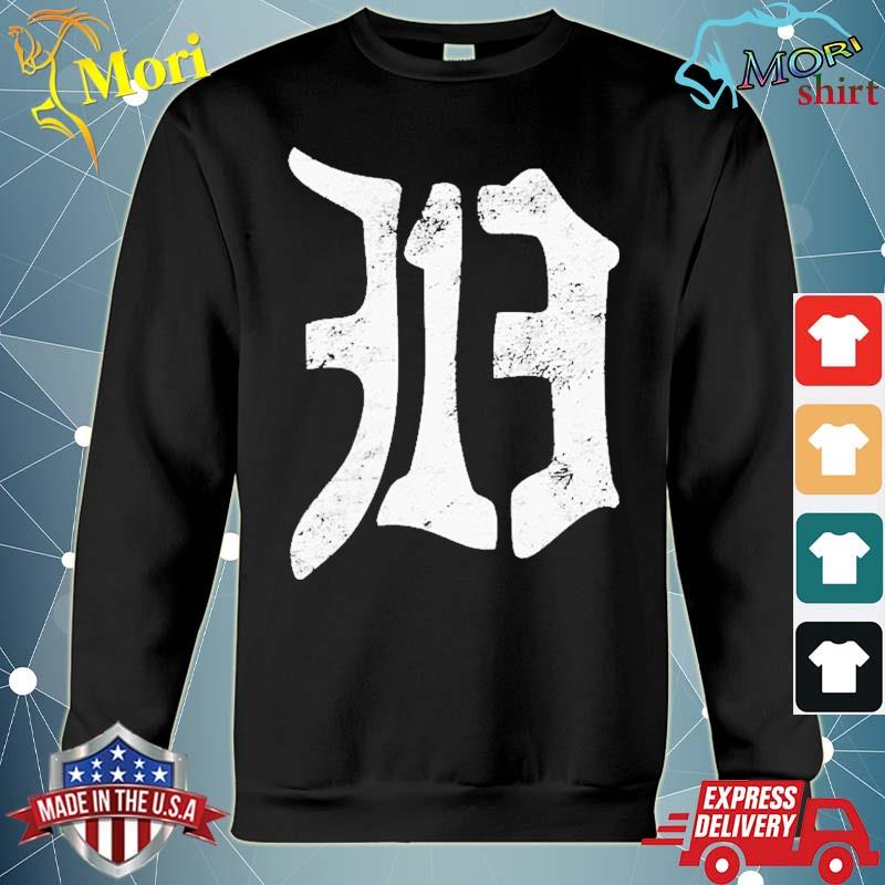 Detroit 313 Vintage Old English D Area Code Shirt hoodie