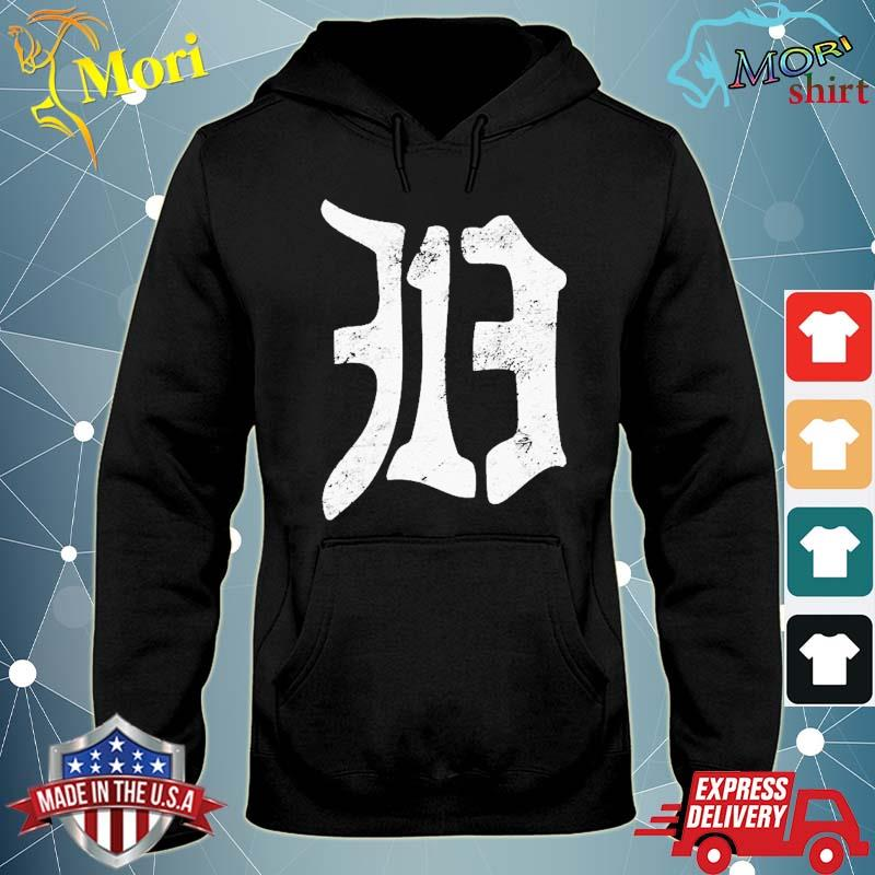 Detroit 313 Vintage Old English D Area Code Shirt sweater