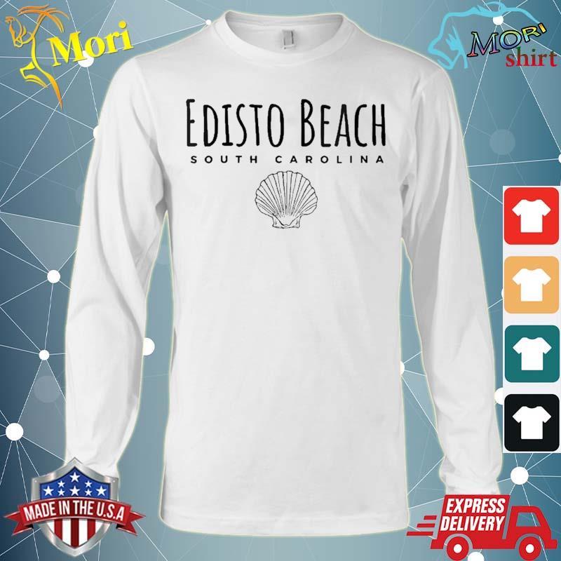 Edisto Beach Tee, S.Carolina Ocean Shell Shirt Long Sleeve