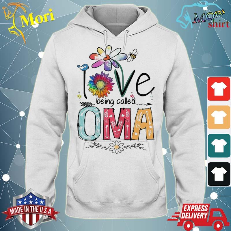 I Love Being Called Oma Daisy Flower Cute Mother's Day Shirt sweater