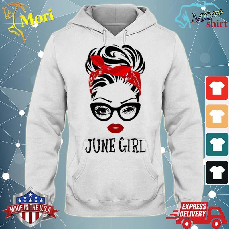 June Girl Wink Eye Woman Face Was Born In June Shirt sweater