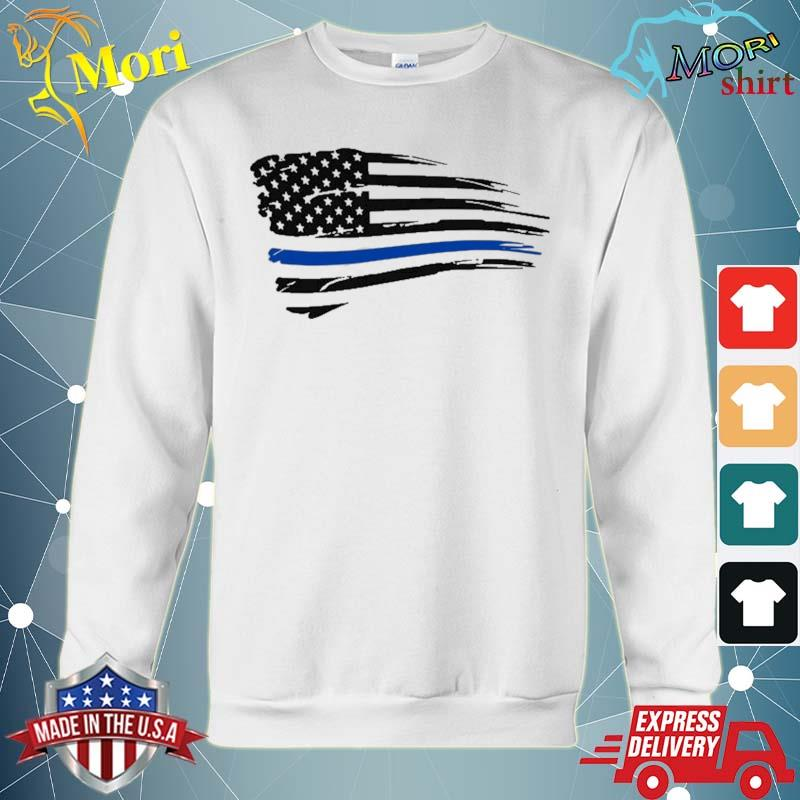 Law Enforcement Police Support Blue Lives Line American Flag Shirt hoodie