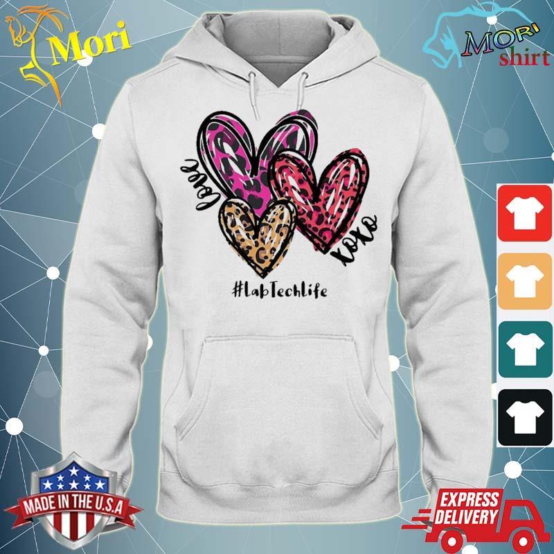 Love Lab Tech Life Heart Leopard Costume Valentine's Day Shirt sweater