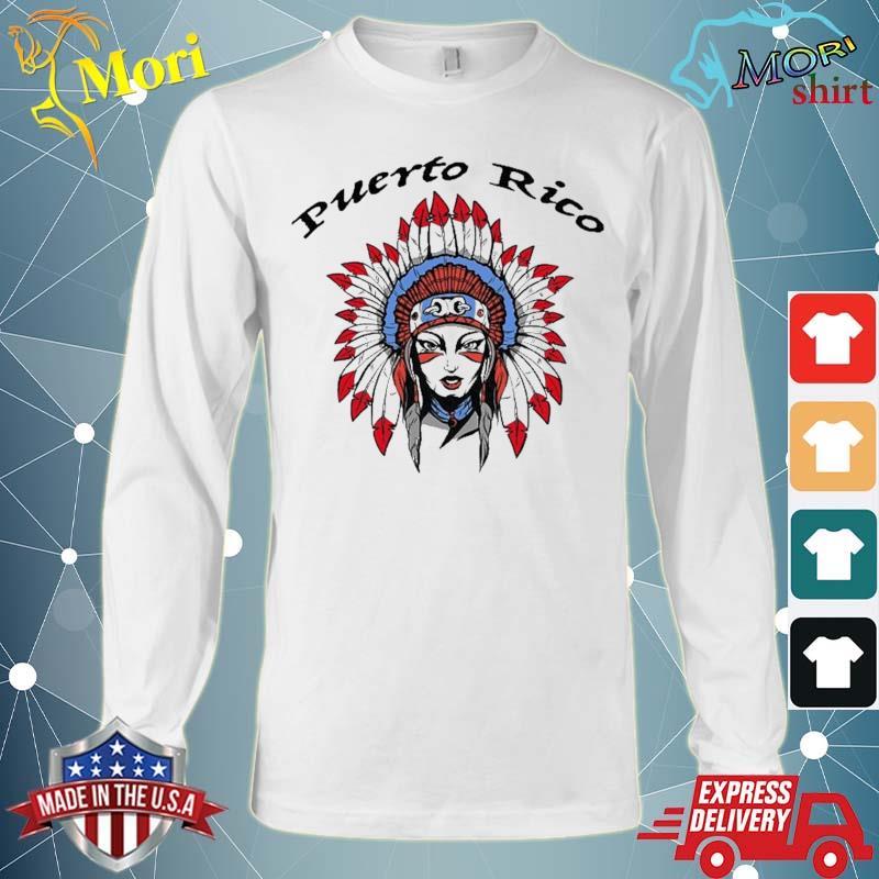 Puerto Rico Female Taino Indian Shirt Long Sleeve