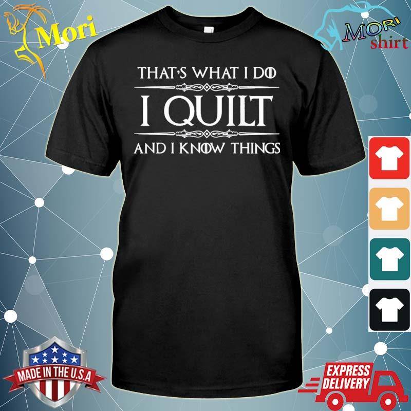 Quilting Gifts For Quilters – I Quilt & I Know Things Funny Raglan Baseball Shirt