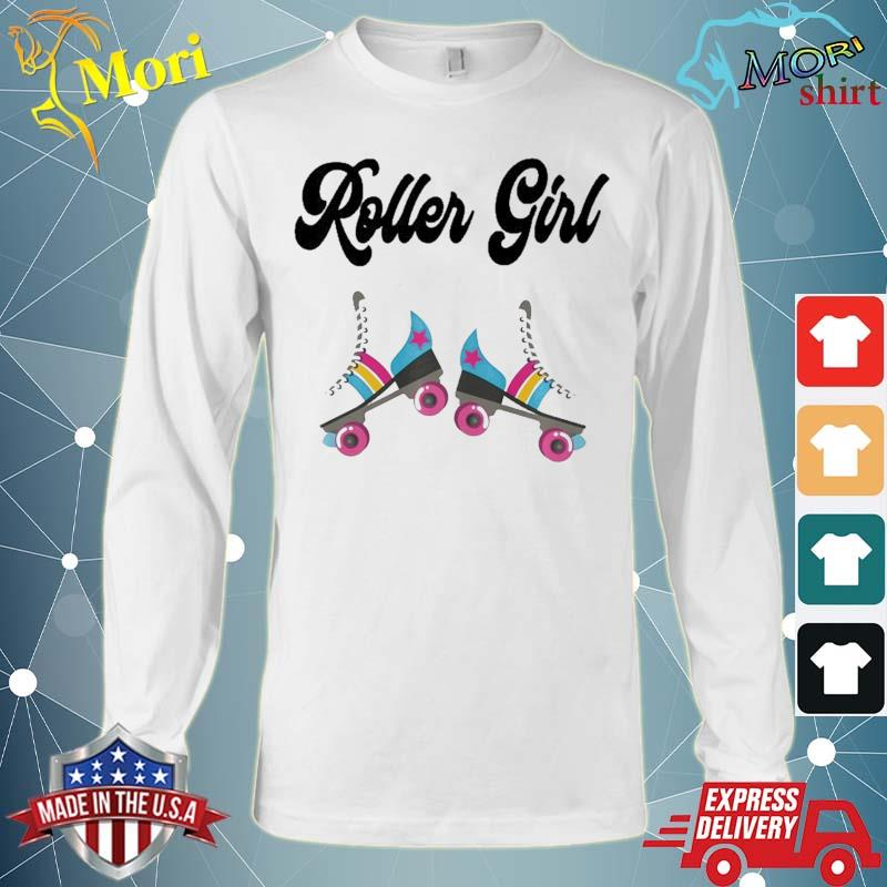 Retro Roller Skate Shirt Rolling Outfit 80'S Party Costume Shirt Long Sleeve