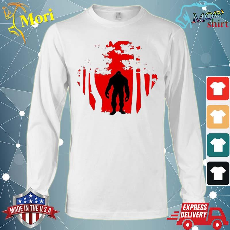 Scary Bigfoot In The Woods Shirt Long Sleeve