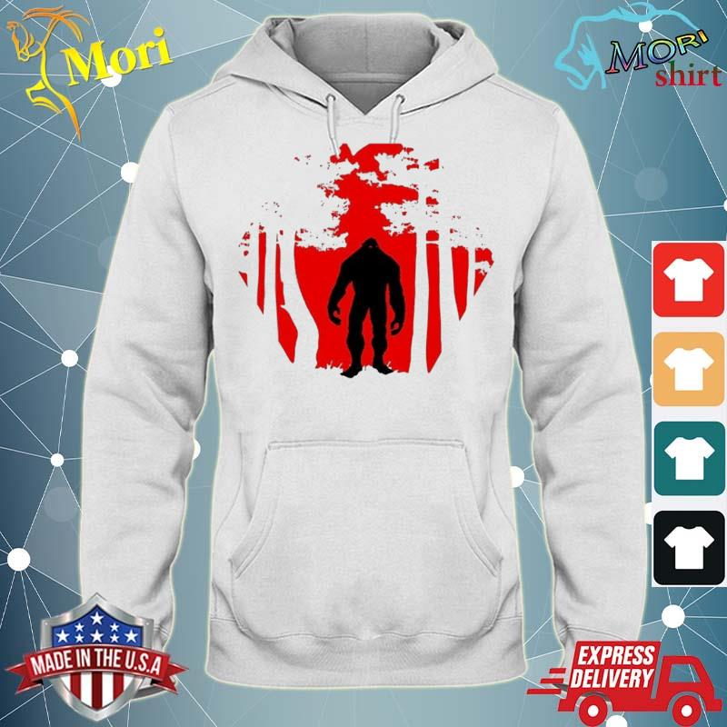 Scary Bigfoot In The Woods Shirt sweater