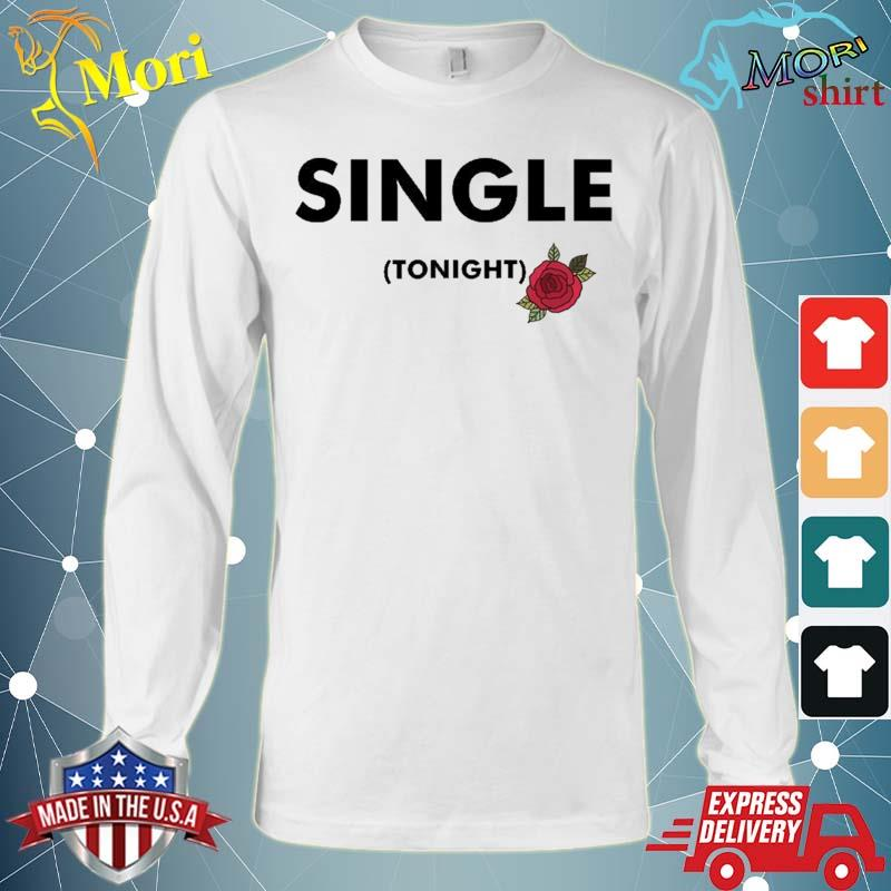 Single For Tonight Rose Motif Graphic Shirt Long Sleeve