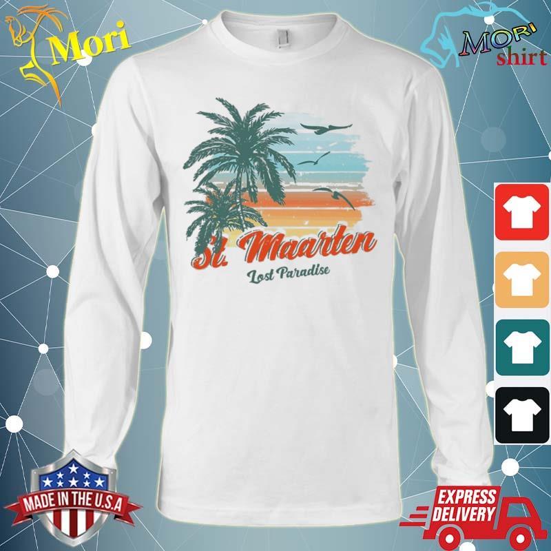 St. Maarten Beach Shirt Lost Paradise Shirt Long Sleeve