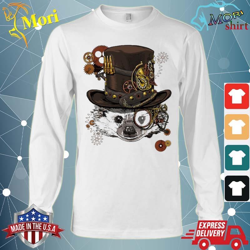 Steampunk Hedgehog Steampunk Animal Lovers Shirt Long Sleeve