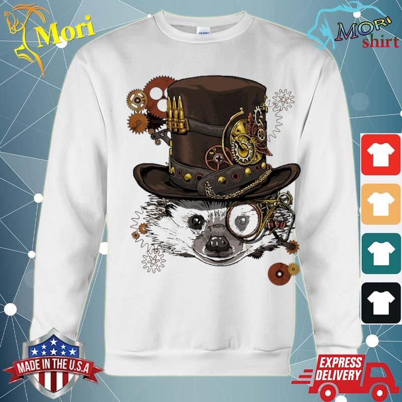 Steampunk Hedgehog Steampunk Animal Lovers Shirt hoodie