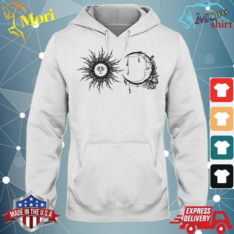 Sun And Moon Boho Hippie Celestial Line Art Aesthetic Top Shirt sweater