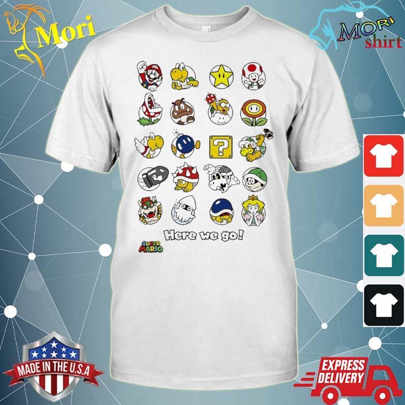 Super Mario Original Characters Here We Go Shirt