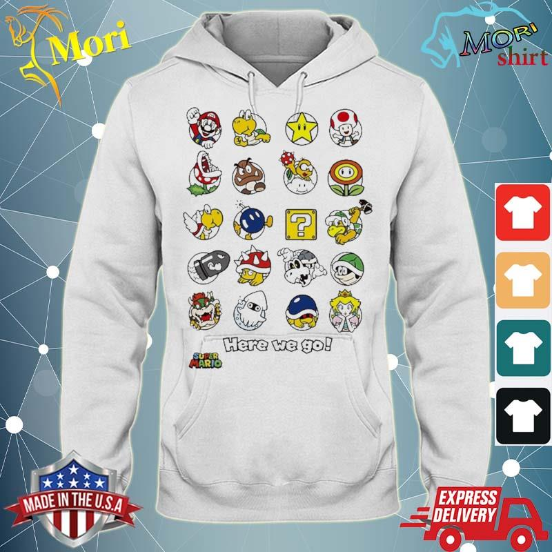Super Mario Original Characters Here We Go Shirt sweater