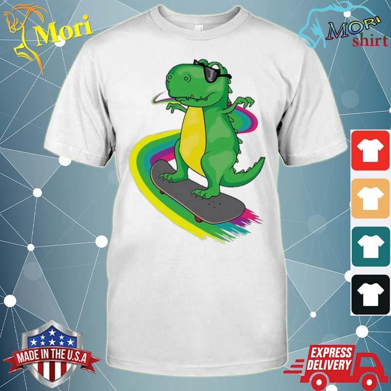 T-Rex Skateboarding Shirt Cute Skating Dinosaur Tee Gift Shirt