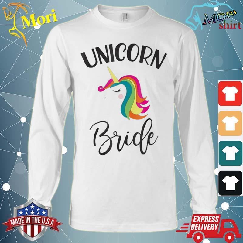 Unicorn Bride Bachelorette Shower Matching Group Set Shirt Long Sleeve