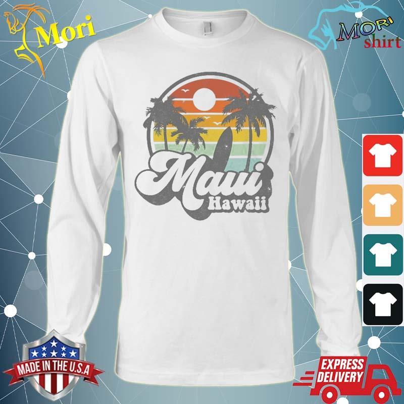 Vintage Maui Hawaii Hawaiian Beach Surfing 70'S Surf Gift Shirt Long Sleeve
